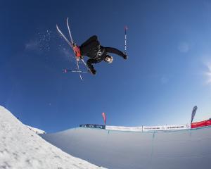 Kiwi freeskier Nico Porteous competes at the Junior World Championships at Cardrona Alpine Resort...