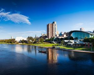 Buildings near the waterfront of the Torrens River Adelaide, South Australia. Photo: Getty Images