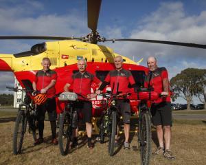 (From left) Willy Leferink, Bruce Kell, David Keeley and Warren Harris. Photo: Daniel Tobin