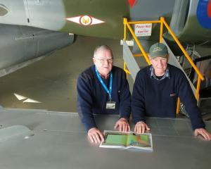 Ashburton Aviation Museum president Stephen Johnston and building committee chairman Owen Moore...