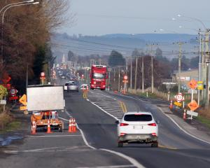 A portion of State Highway 1 north of Milton where speed has been reduced because of the state of...
