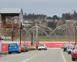 Balclutha Road Bridge can now be seen from the town's main street. PHOTO: JOHN COSGROVE