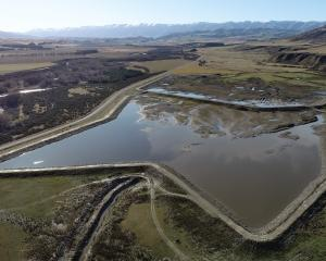 A pair of fortress-like irrigation ponds are ''future-proofing'' the Hore farm near Omakau for...