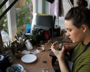 Dunedin-based jewellery designer Holly Howe.