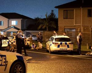 A witness says the pursued car contained several children. Photo: NZ Herald