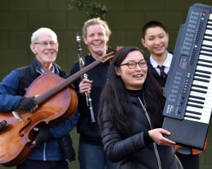 Ready for the Connections Autism Fundraising Concert are performers (front) Sophie Sun (18), ...