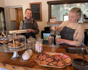 Business is sweet for Bridget Wright (right), of Yeet Cafe at Naseby. Her sister, Fiona, has been...