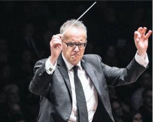 Marc Taddei conducting Orchestra Wellington in 2019;  PHOTO:  ELIAS RODRIGUEZ