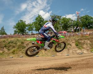 Courtney Duncan flies to victory in the opening round of the world motocross championship in the...