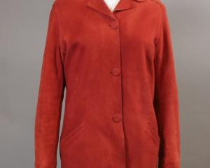 Red suede jacket, by Zoltan Fias.