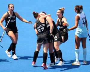 The Black Sticks Women blew away world number 2 Argentina 3-0 in Tokyo. Photo: Getty Images