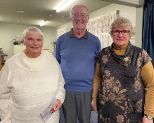 New Bowls Dunedin life members are (from left) Anne Craik, Michael Ayers and Isobel Sharp. PHOTO:...