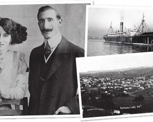 Veronique White and Antonio Carvelli, probably photographed around the time of their wedding, in...