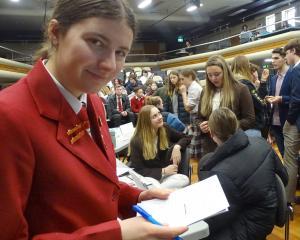 Hannah Tait (17), from Dunstan High, represented China in the debate. Photo: Kerre Waterworth