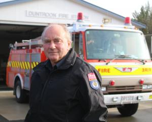 Duntroon Volunteer Fire Brigade Acting Chief Fire Officer John Abelen  is rapt with the...