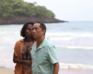 Patricia (Nikki Amuka-Bird) and Jarin (Ken Leung) in Old, written for the screen and ...