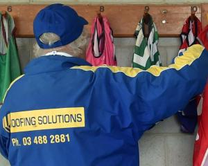 Hanging up the Lycra vests, worn by greyhounds when they race, is Otago Greyhound Racing Club...