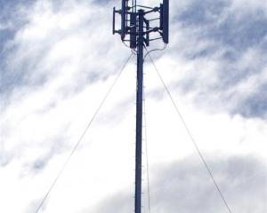 Two cellphone towers were set ablaze. Photo: Getty Images