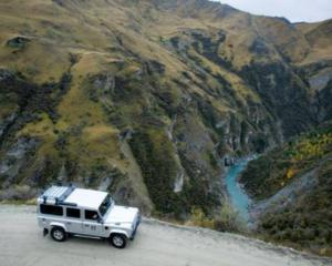 Skipper's Canyon Rd, near Queenstown, has been rated the most dangerous in New Zealand. Photo:...