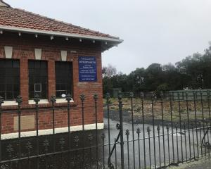 The site where St James Presbyterian church stood may become a car park. PHOTO: GILLIAN VINE