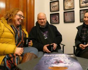Dark Dunedin actors (from left) Allison Horsley, Brian Kilkelly and Kate Schrader share stories...