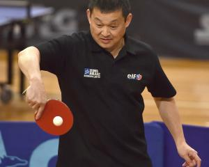 In action at the Otago Open on Saturday  is Robin Sew Hoy. PHOTO: GREGOR RICHARDSON