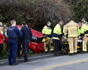 A person has been injured in a crash in Christchurch. Photo: George Heard