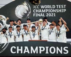 New Zealand's success in the World Test Championship Final was a moment to savour. PHOTO: REUTERS