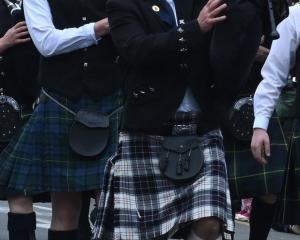 John Nicholl takes part in a recent Dunedin Santa Parade. PHOTO: ODT FILES