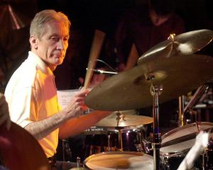 Charlie Watts performing in Barcelona. Photo: Reuters