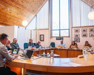 Members of the Cromwell Community Board discuss the next steps in advancing the Cromwell Memorial...