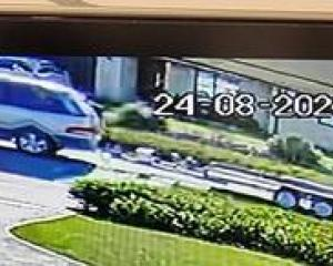 POLICE TRAIL: Security camera footage of the vehicle and trailer that aroused suspicion in West...