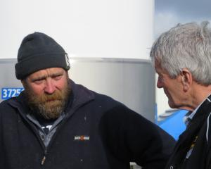 Agricultural Minister Damien O'Connor talks to the Rooney family last week. PHOTOS: TONI WILLIAMS