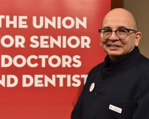 Association of Salaried Medical Specialists president Dr Julian Vyas presented union concerns at...