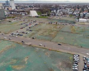 An aerial view of the site for the new Christchurch stadium. Photo: Supplied / Christchurch City...