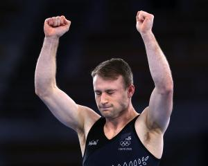 Dylan Schmidt after his impressive routine in Tokyo. Photo: Getty Images