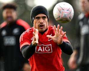 Aaron Smith training at Waitakere Stadium this week. Photo: Getty Images