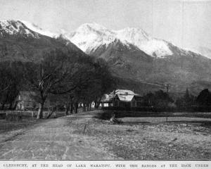Glenorchy, at the head of Lake Wakatipu, with the ranges at the back under a blanket of snow. —...