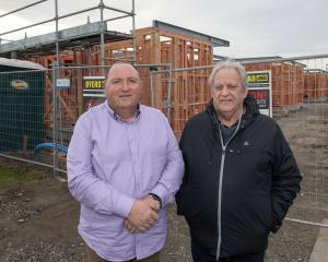 Greater Hornby Residents Association chairman Marc Duff and member Ross Houliston on Amyes Rd...