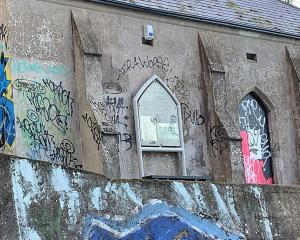 The Torpedo Boat Museum has been covered in graffiti for months. Photo: Dudley Jackson