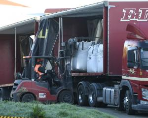Dross being removed from the Mataura paper mill. PHOTO: STEPHEN JAQUIERY