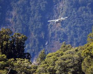 An aircraft arrives at Milford Sound. PHOTO: STEPHEN JAQUIERY