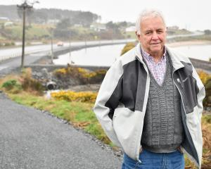 Robin Wilson stands on the soon to be constructed Invercargill to Bluff walkway and cycleway on...