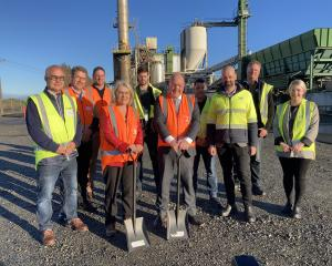 Celebrating Fonterra's plans to build a wood-fuelled biomass boiler at its Stirling cheese...
