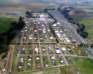 An aerial view of the Waimumu field days. Photo: Stephen Jaquiery