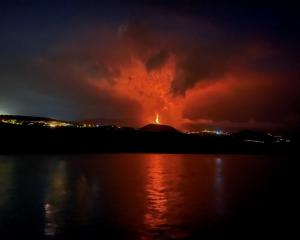 The volcano erupts on the Canary Island of La Palma. Photo: Reuters