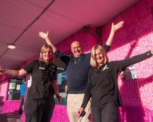 Alexandra Blossom Festival event manager Martin McPherson, Alexandra Four Square owner Monique...