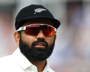 Ajaz Patel impressed with 4-16. Photo: Getty Images/File