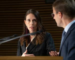 Prime Minister Jacinda Ardern and director general of health Dr Ashley Bloomfield. Photo: NZ Herald