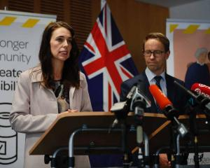 Prime Minister Jacinda Ardern and Director-General of Health Ashley Bloomfield. Photo: NZ Herald
